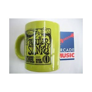 Ernie ball strings drinks mug, collectable. Regular Slinky.