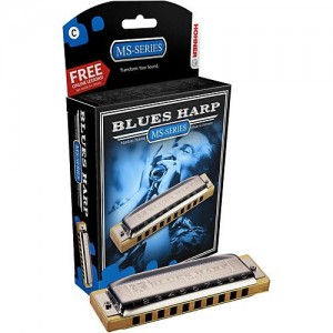 Hohner MS Series Blues Harp in F sharp.