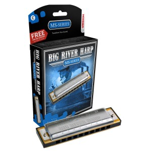 Hohner MS Series Big River Harp in D.