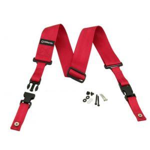DiMarzio DD2200RD cliplock guitar strap. Red