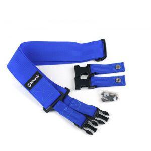DiMarzio DD2200BL cliplock guitar strap. Blue