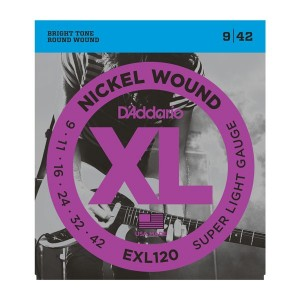 D'Addario XL Super Light 9-42 Electric Guitar Strings