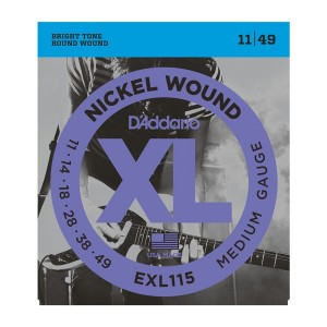 D'Addario XL Blues/Jazz Rock 11-49 Electric Guitar Strings