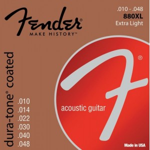 Fender Dura-Tone Coated 80/20 Bronze 10-48 Acoustic Guitar Strings