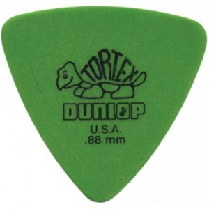 Jim Dunlop 431 triangle Tortex .88mm Green Bass Pick