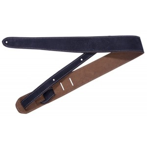 Fender Road Worn Leather Strap - Black