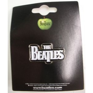 Beatles dropped T logo pin badge.