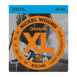 D'Addario XL Light Top Heavy Bottom 10-52 Electric Guitar Strings