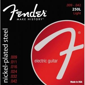 Fender Super 250's Nickel-Plated Steel  9-42 Electric Guitar Strings