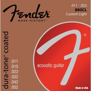 Fender Dura-Tone Coated 80/20 Bronze 11-52 Acoustic Guitar Strings
