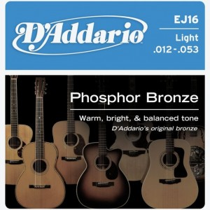 D'Addario Phosphor Bronze 12-53 Acoustic Guitar Strings