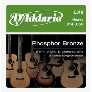 D'Addario Phosphor Bronze 14-59 Acoustic Guitar Strings