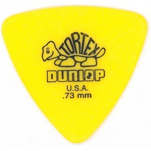 Jim Dunlop 431 triangle Tortex .73mm Yellow Bass Pick